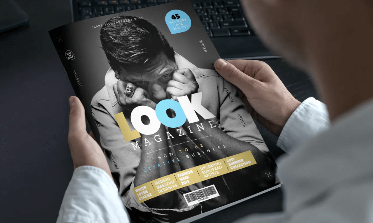 magazine design by bridgecode