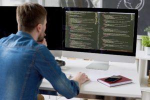 Introspective programmer examining code