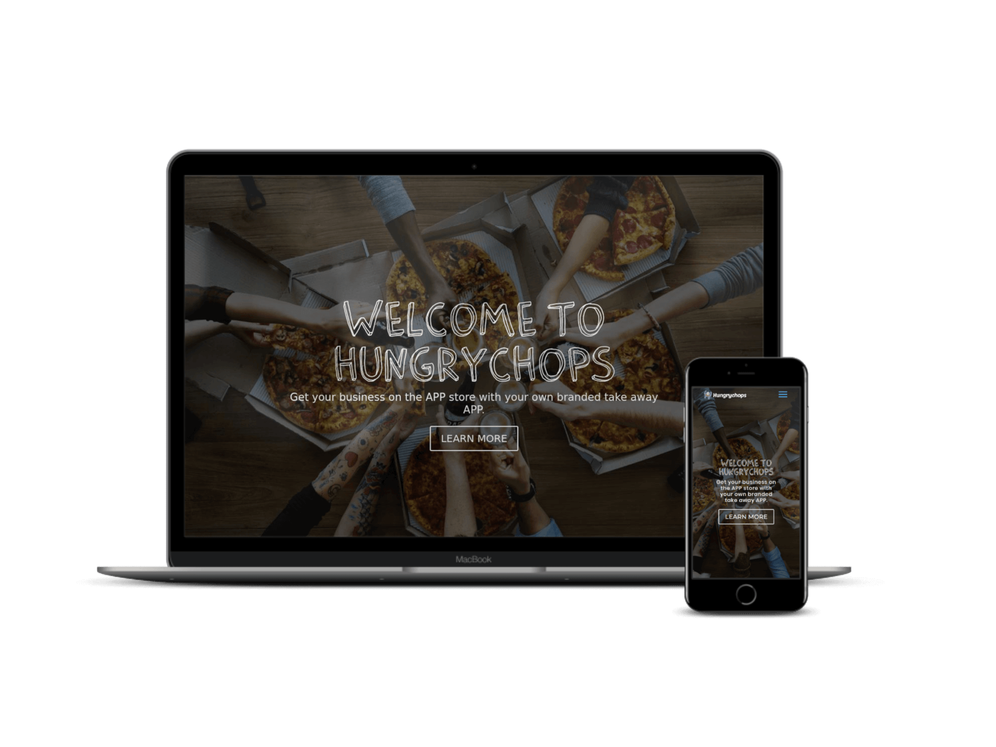 hungrychops web design food ordering ap