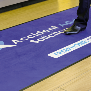 custom printed floor mat
